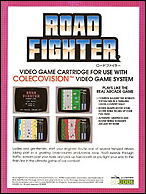 Road Fighter Box, Back © ColecoVision.dk