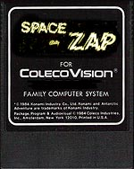 Space Zap For ColecoVision, None exist...