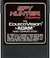Spy Hunter Cartridge, Front © ColecoVision.dk