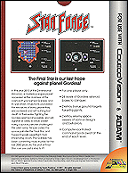 Star Force Box, Back © ColecoVision.dk