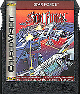 Star Force Cartridge, Front © ColecoVision.dk