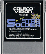 Star Soldier Cartridge, Front © ColecoVision.dk