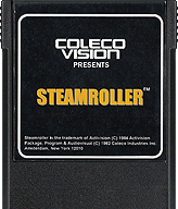 Steamroller Cartridge, Front © ColecoVision.dk