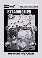 Steamroller Manual, Front © ColecoVision.dk