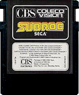 Subroc CBS Cartridge, Front © ColecoVision.dk