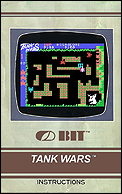 Tank Wars Manual, Front © ColecoVision.dk