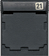 Time Pilot Cartridge, Back © ColecoVision.dk