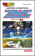 Zanac Manual, Front © ColecoVision.dk